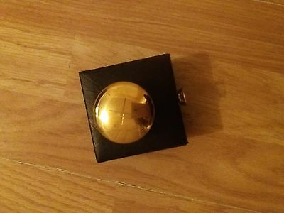 Solid brass pyx in box case 4.5cm with cross Eucharist Communion Catholic