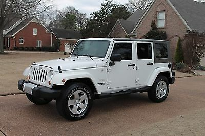 2010 Jeep Wrangler Unlimited Sahara 4WD Wrangler Unlimited Sahara 4WD 3 Piece Hard Top Automatic Great Service History