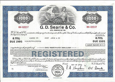 G.d Searle & Co........debenture Due 1995