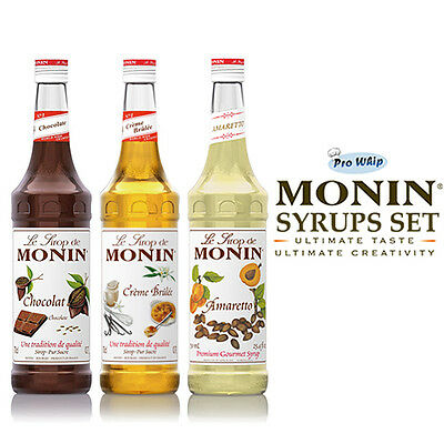 MONIN Coffee Syrups -USED BY COSTA COFFEE - 1L Winter Favourites Trio Gift Set