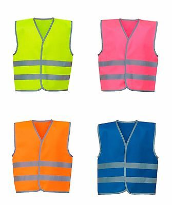 Hi-Vis Vest Kids Boys Girls Yoko 2 Band Waistcoat Children Safety Wear
