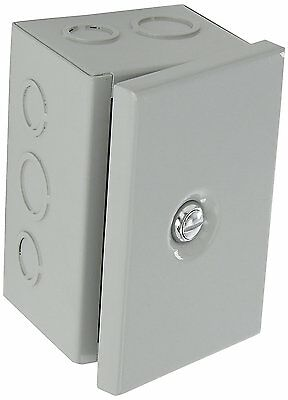 BUD Steel NEMA Sheet Metal Box Electrical Enclosure Project Hinged Cover Steel