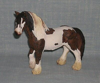 Schleich 2007 Brown & White Tinker Stallion Horse Figure 13625
