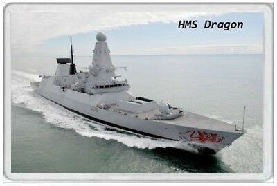 Hms Dragon - Jumbo Fridge Magnet - Royal Navy Ship Janes Army Air Destroyer 45