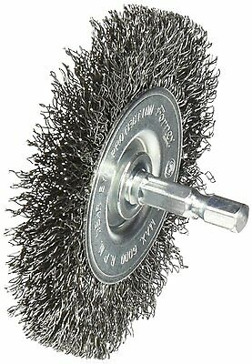 Forney 72735 Wire Wheel Brush Coarse Crimped with 1/4-Inch Hex Shank 3-Inch-b...