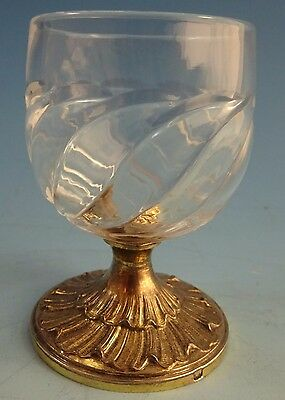 Odiot Gilt Sterling and Carved Rock Crystal Cordial Cups #1289 (#1448)