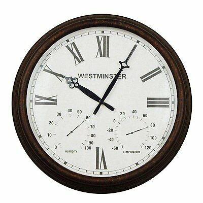 Luster Leaf 20056 Stratford Outdoor/Indoor Clock 16 Inches