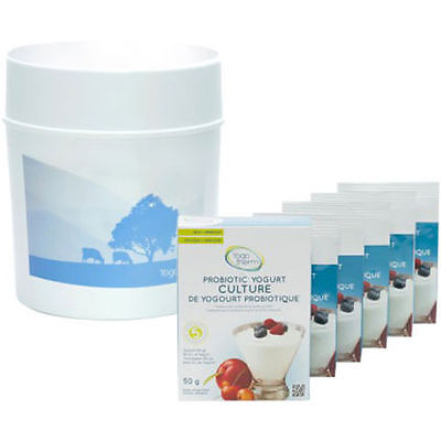 Yogotherm Probiotic Yogurt Maker with 5 Packs of Probiotics - Made in Canada