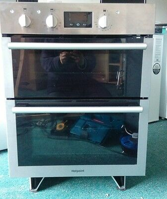Built Under Double Oven Electric Stainless Steel HOTPOINT DU4541IX Integrated
