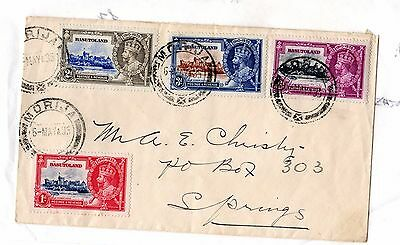 Basutoland 1935 KGV Silver Jubilee Cover to South Africa Postal History X5584