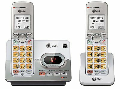 AT&T DECT 6.0 2 Cordless Phones with Caller ID, ITAD, Handset Speakerphones