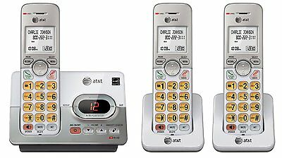 AT&T DECT 6.0 3 Cordless Phones with Caller ID, ITAD, Handset Speakerphones