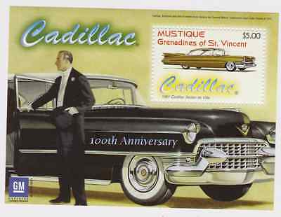 Mustique Grenadines | Cars, Cadillac, 2003 | S/S MNH