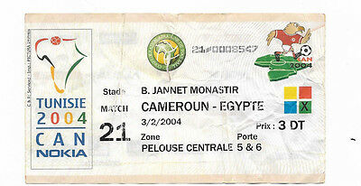 Ticket 2004 African Cup of Nations - CAMEROON v. EGYPT