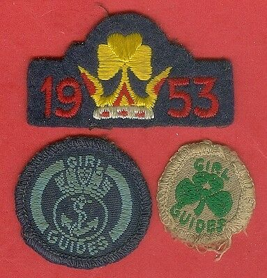 Girl Guides Ranger Canada Badges Sea Service 1953 Coronation Canadian Vintage