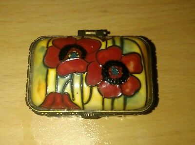 Old Tupton Ware 'POPPY' Small Trinket Box (VGC)