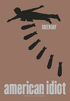 Green Day American Idiot large fabric poster / flag 1100mm x 750mm (hr)