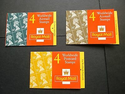 GB 3 Worldwide folded booklets, 35p, 41p and 60p see pictures