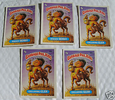 Horsey HENRY 86a and Galloping GLEN 86b Garbage Pail Kids Series 3 Checklist