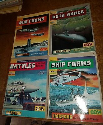 Harpoon GDW Supplements lot- Data Annex, Battles, Ship Forms, Sub Forms