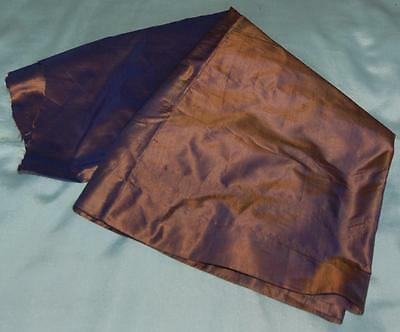 Vintage Antique Part Skirt Cutter Purple Shot Silk Victorian Dolls Craft c1900