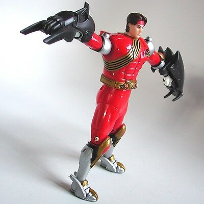 """2002 Power Rangers Wild Force 5"""" Red Spin-Morphin Ranger Cole Evans COMPLETE"""