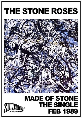 THE STONE ROSES Made Of Stone - The Single PHOTO Print POSTER Self Titled LP 035