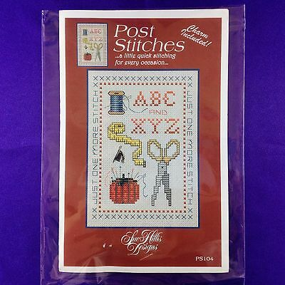 "Cross Stitch Chart ""Just One More Stitch"" by Sue Hills Designs - Charm Included!"