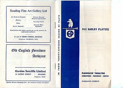 Theatre Programme – Rainbow Theatre Reading The Earley Players (1964)