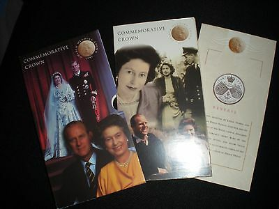 1997 £5 Golden Wedding Commemorative Crown Pack, Sealed Coin Royal Mint