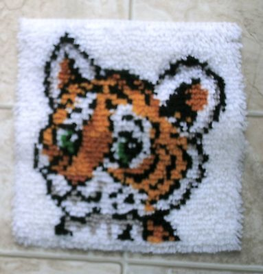 Latch Hook Rug Or Wall Hanging - Tiger Cub