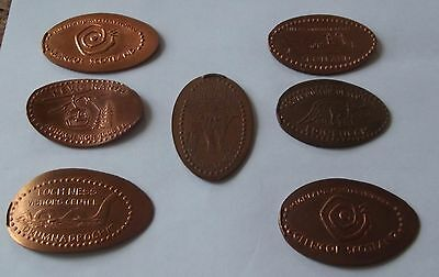 8 x Scottish themed Pressed Penny Elongated Coins - Loch Ness - Eilean Donan etc
