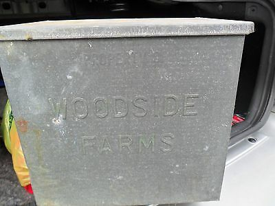 Vintage Woodside . Galvanized Porch Milk Box