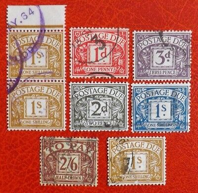 Postage Due stamps up to Half-Crown used