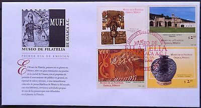 Mexico 1998 FDC Philately Museum Oaxaca Library Culture Gold Convent Painting XF