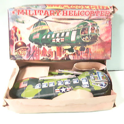 YANOMAN VINTAGE TIN  HELICOPTER  MADE IN JAPAN 1950's