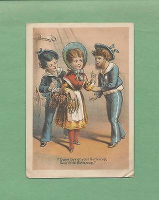 SAILORS PROPOSITION WOMAN On THE BABY PINAFORE Stage Play Victorian Trade Card