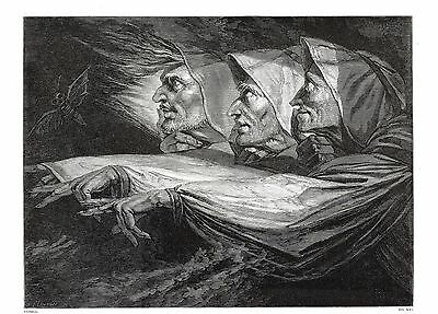 """""""The Three Witches"""" (Shakespeare's Macbeth) After Henry Fuseli, RA - c1850"""