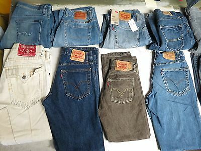Lot Of 15 Pairs Of Mens Jeans Levis True Lucky 501 505  Sizes 29-33 Hollister