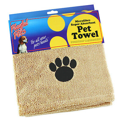 Super Absorbent Large Microfibre Pet Towel Dog Puppy Drying Blanket 110 x 72cm