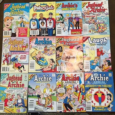 Lot of 12 Archie Digests