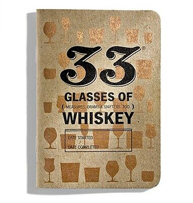 33 Glasses Of Whiskey; Whiskey Notebook For Tasting Notes. 33 Drams