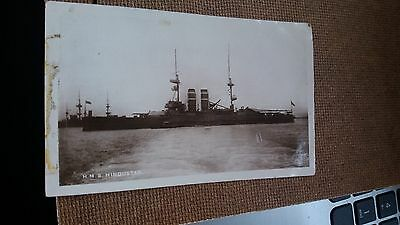 """Lot.a104. """" H.m.s. Hindustan """". Unposted"""