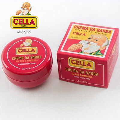 Crema da Barba Cella in Ciotola all' olio di Mandorla 150 ml Sapone Barba