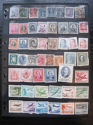 South & Central American stamps on stockpages (about 1250 stamps).(P145)