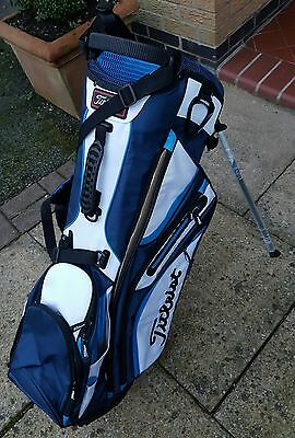 2017 New Titleist 14-Way Stand Bag Navy/white/med Blue £179