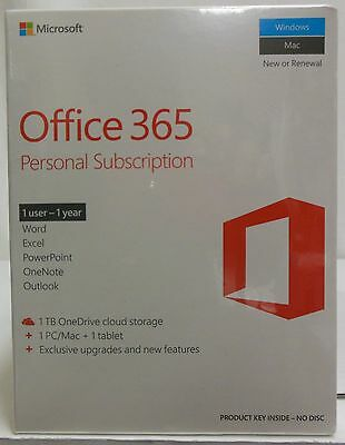 Microsoft Office 365 Personal Subscription-Five(5)