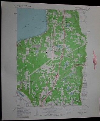 Poverty Bay Washington Puget Sound Federal Way vintage 1962 old USGS Topo chart