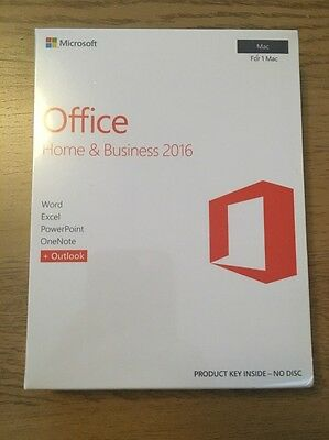 Microsoft Office Home and Business 2016 - for Mac / New and Sealed  /  UK