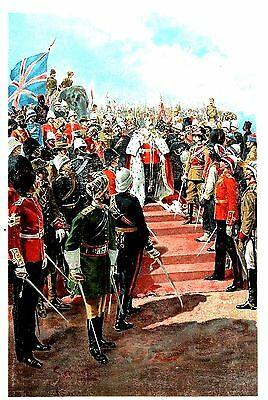 The Imperial Bodyguard (Soldiers of Empire) Coronation - Edward VII by G. Amato